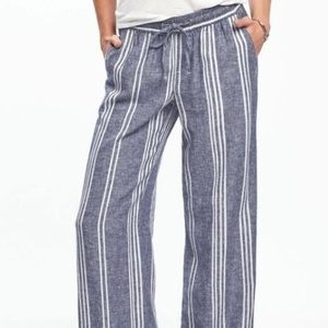 3/$30 Old Navy Blue Striped Linen Pants
